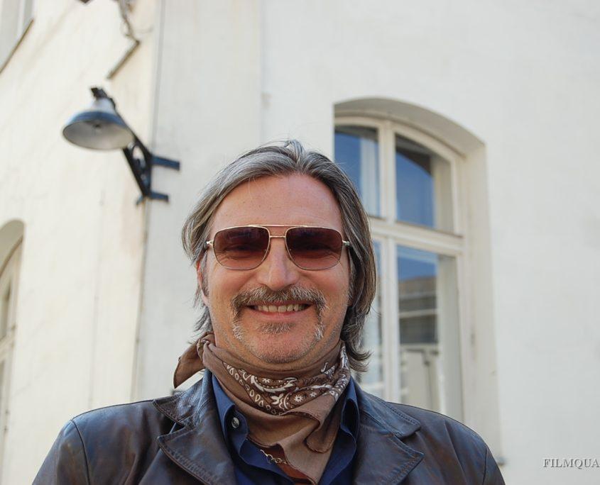 Hauptdarsteller Major Ribarski (Stefan Jürgens) - SOKO DONAU am Filmset FILMQUARTIER WIEN